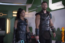 Thor: Ragnarok..L to R: Valkyrie (Tessa Thompson) and Thor (Chris Hemsworth)..Photo: Jasin Boland..©Marvel Studios 2017