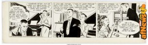Alex Raymond Rip Kirby Daily Comic Strip Original Art dated 10-22-52 King Features Syndicate 1952-afnews