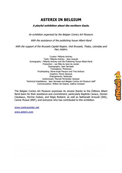Belgian Comics Art Museum exhibit Asterix in Belgium - PRESS-3-afnews