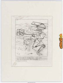 Hank Ketcham Dennis the Menace Daily Comic Strip Preliminary Artwork Original Art dated 9-25-71-afnews