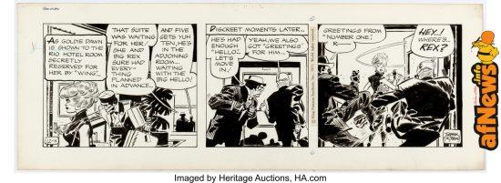 Frank Robbins Johnny Hazard Daily Comic Strips Original Art dated 12-4-71