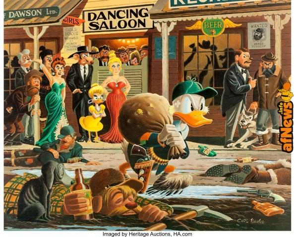 Carl Barks Nobody's Spending Fool Signed Limited Edition Lithograph Print 234-350-afnews-afnews-afnews