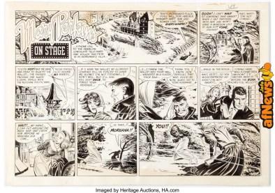 Leonard Starr Mary Perkins On Stage Sunday Strip Original Art dated 2-7-65-afnews-afnews