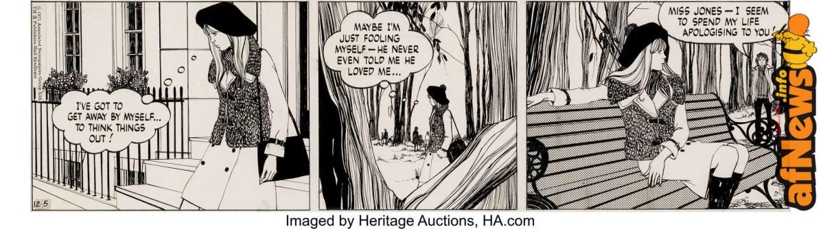 Pat Tourret Tiffany Jones Daily Comic Strip Original Art dated 12-5-71-afnews-afnews