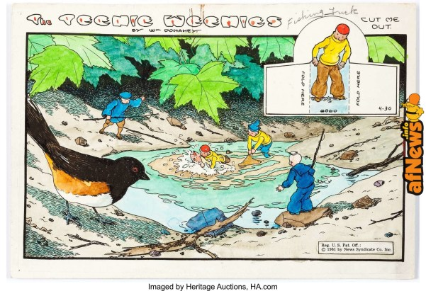 William Donahey The Teenie Weenies Sunday Comic-Strip Color Production Art dated 4-30-61-afnews-afnews