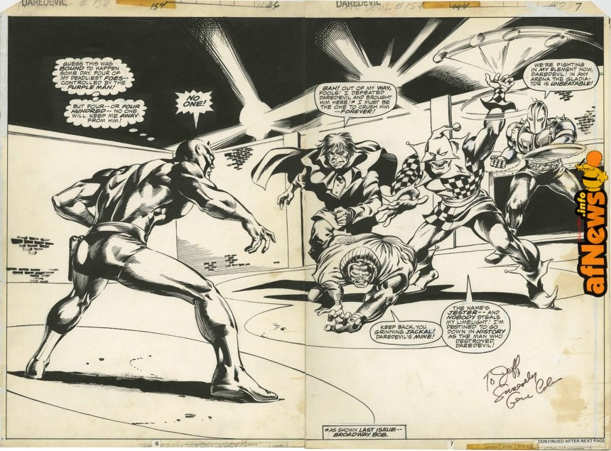 DAREDEVIL 154 double-page spread by Gene Colan-afnews