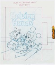 Disney Babies Mickey and Friends Original Storybook Art 1990 circa-afnews