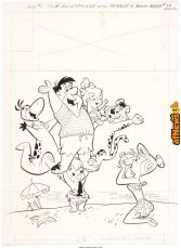 Harvey Eisenberg The Flintstones 11429 Cover Original Art Gold Key 1965-afnews