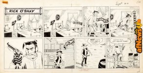 Stan Lynde Rick OShay Sunday Comic Strip Original Art dated 9-20-59-afnews