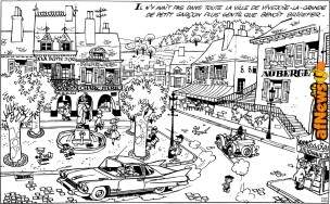 coloring-page-benoit-brisefer-red-taxis-rouges-original-drawing-afnews