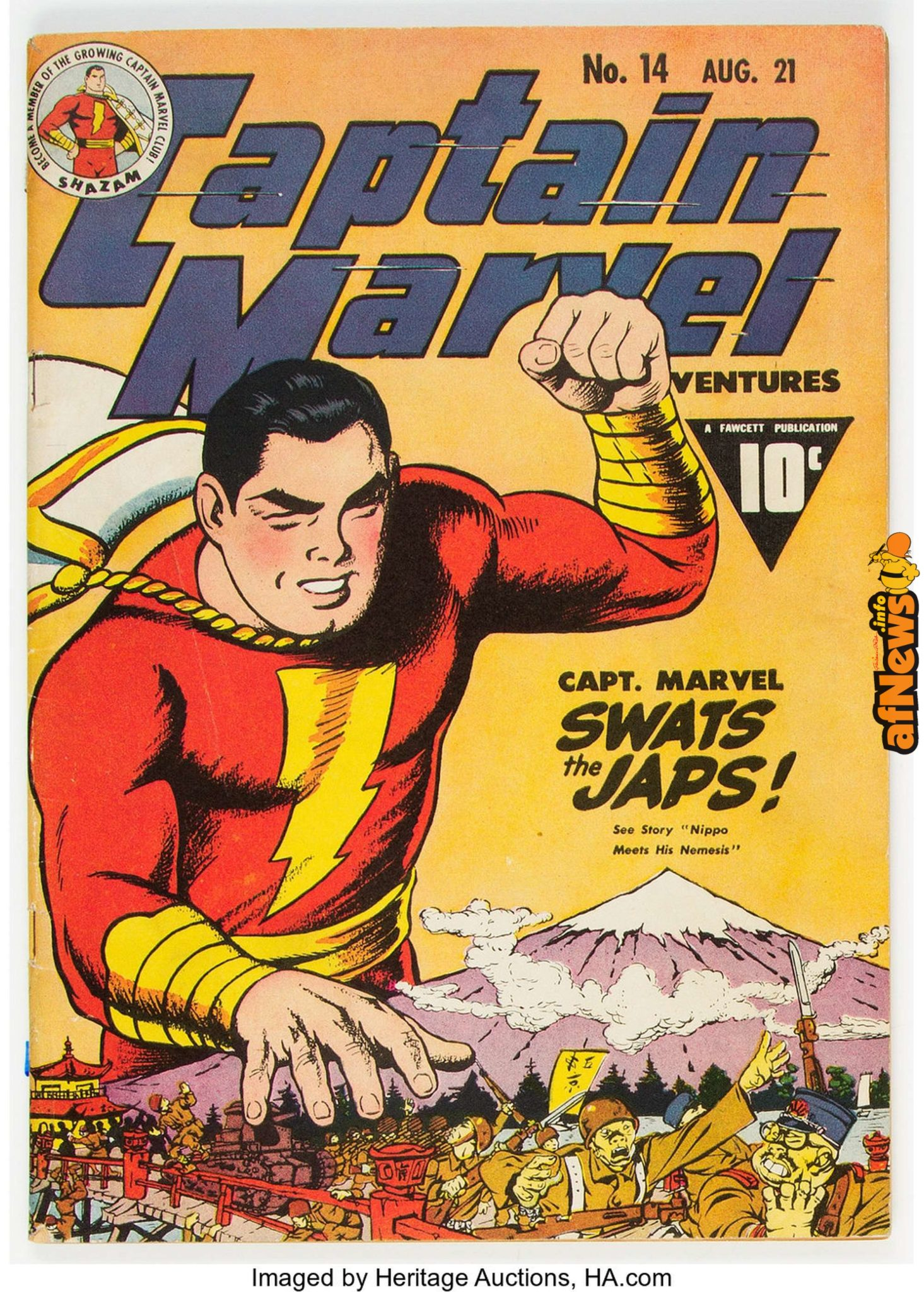 Captain Marvel comic book-afnews