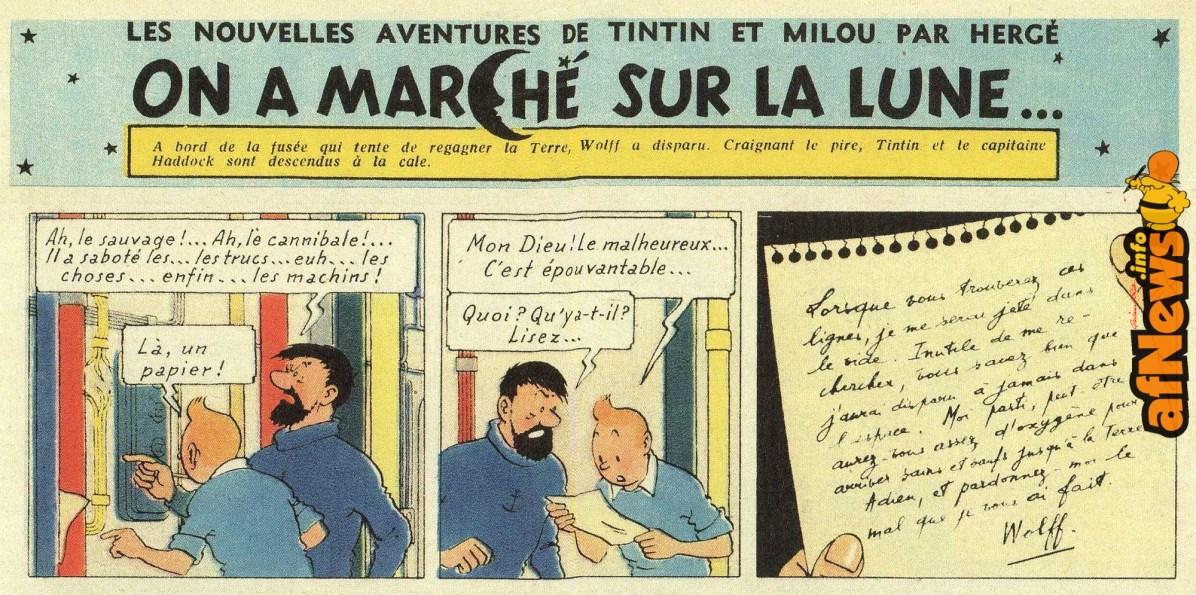 Tintin lettera suicidio originale 280 11 novembre 1953 autografia di Baudouin van den Branden segretaria di Herge - modificata pagina 55 albo-afnews