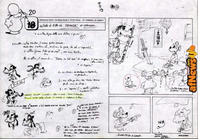 Una pagina del mio storyboard
