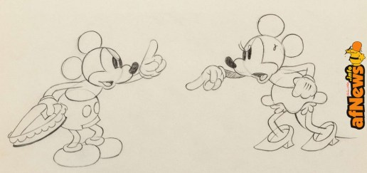 Puppy Love Mickey Mouse and Minnie Mouse Animation Drawing (Walt Disney, 1933)-afnews