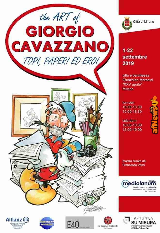 The Art of Giorgio Cavazzano. Topi, paperi ed eroi dal 1 Settembre a Mirano - afnews.info