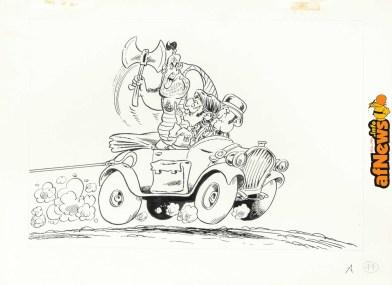 Bonvi - Marzolino Tarantola, disegno d_animazione per Supergulp-afnews