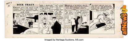 Chester Gould Dick Tracy Daily Comic Strip Original Art dated 9-3-45 (Chicago Tribune, 1945)-afnews