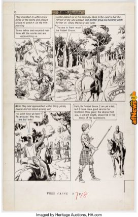 Reed Crandall Classics Illustrated 26160 In Freedom's Cause Story Page 18-afnews
