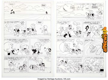 Warren Kremer Richie Rich & Casper Unpublished 3946 Pages 22-23 Original Art (Harvey, 1982)-afnews