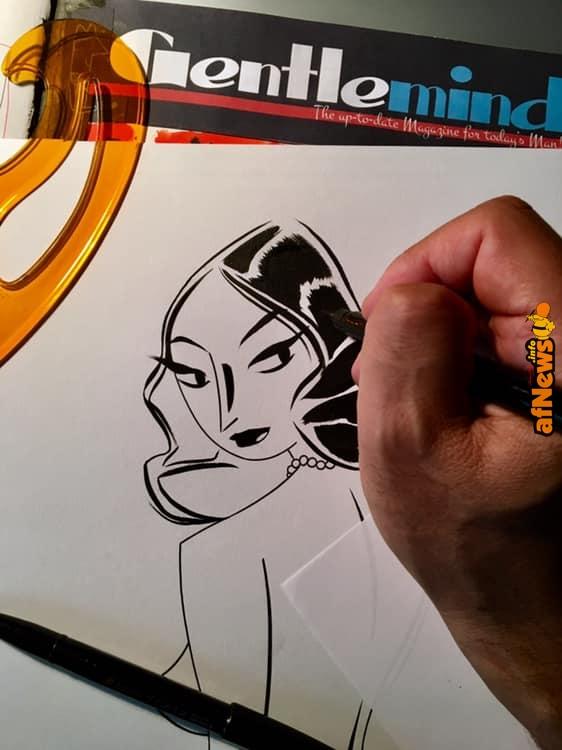 Antonio Lapone Drawing Art al lavoro su Gentlemind - afnews.info
