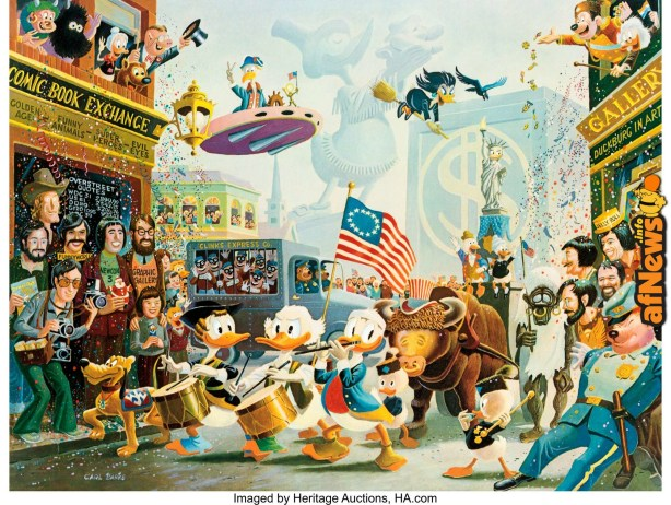 Carl Barks July Fourth in Duckburg Signed Limited Edition Lithograph Print-afnews