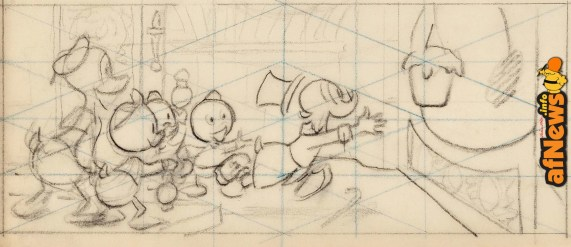 Carl Barks Golden Fleece Concept Sketch Art and Fine Art Serigraph 266-500 (Walt Disney, 1972-93) - Heritage Auctions