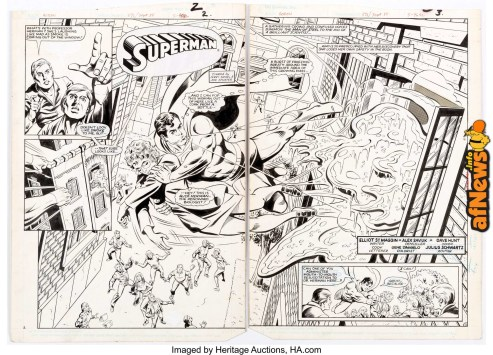 Alex Saviuk and Dave Hunt Action Comics 3571 Double Splash Story Pages 2 and 3-afnews