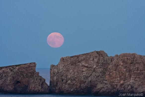 Lluna sobre el Pas d'es Freu