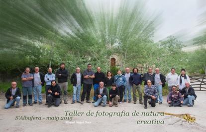 Participants al taller de fotografia impartit per Miquel Angel Dora