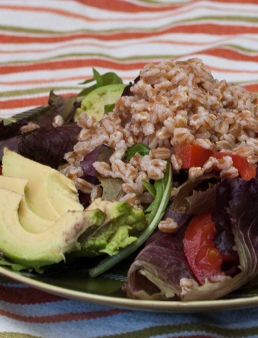 farro avocado salad