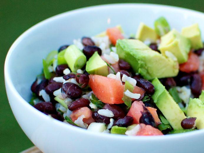 Brown Rice and Black Bean Salad