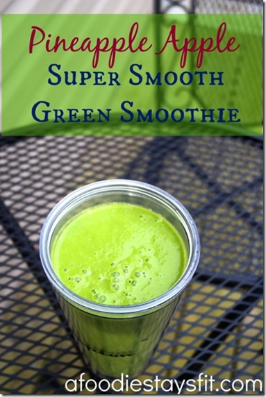 pineapple apple green smoothie