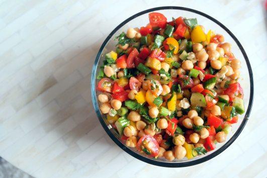 Chopped Chickpea Rainbow Salad