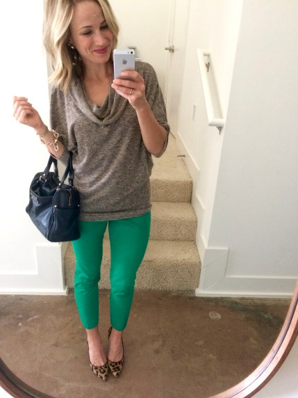 green sloan pants banana republic