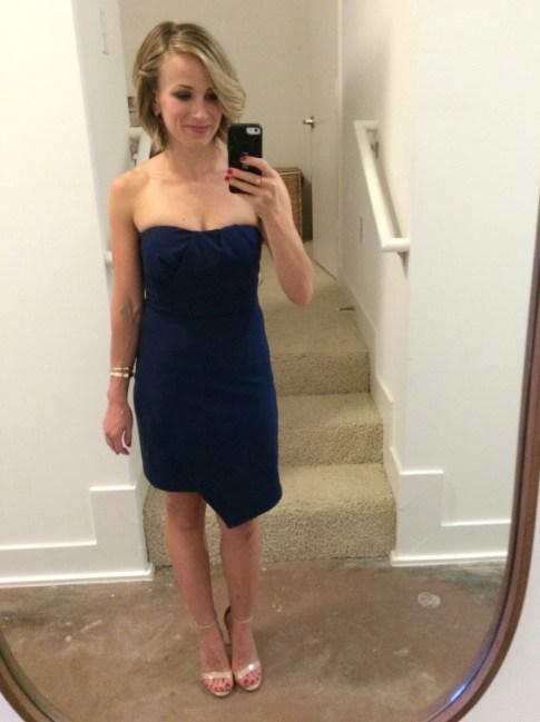 adelyn rae strapless dress