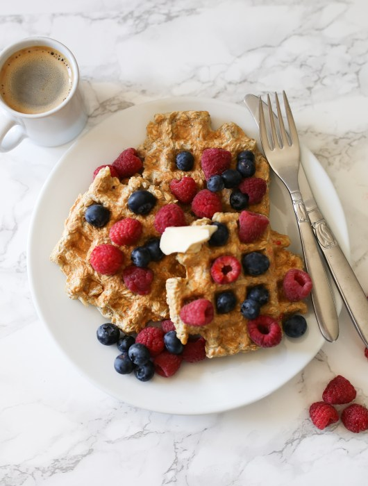 waffles the butter and berries on top