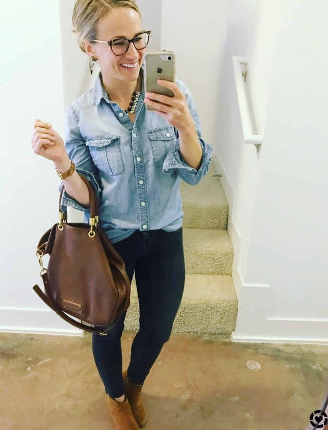 how to style chambray