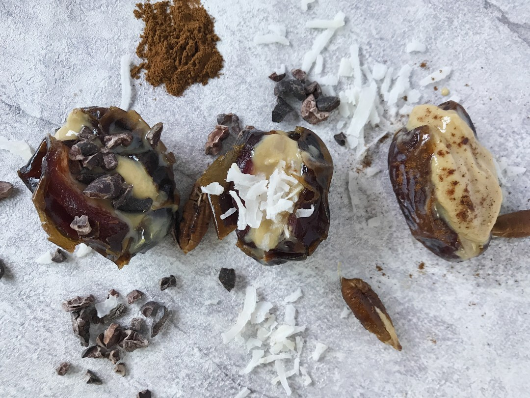 Dates stuffed with nut butter   What are Good Foods to Eat Before a Run