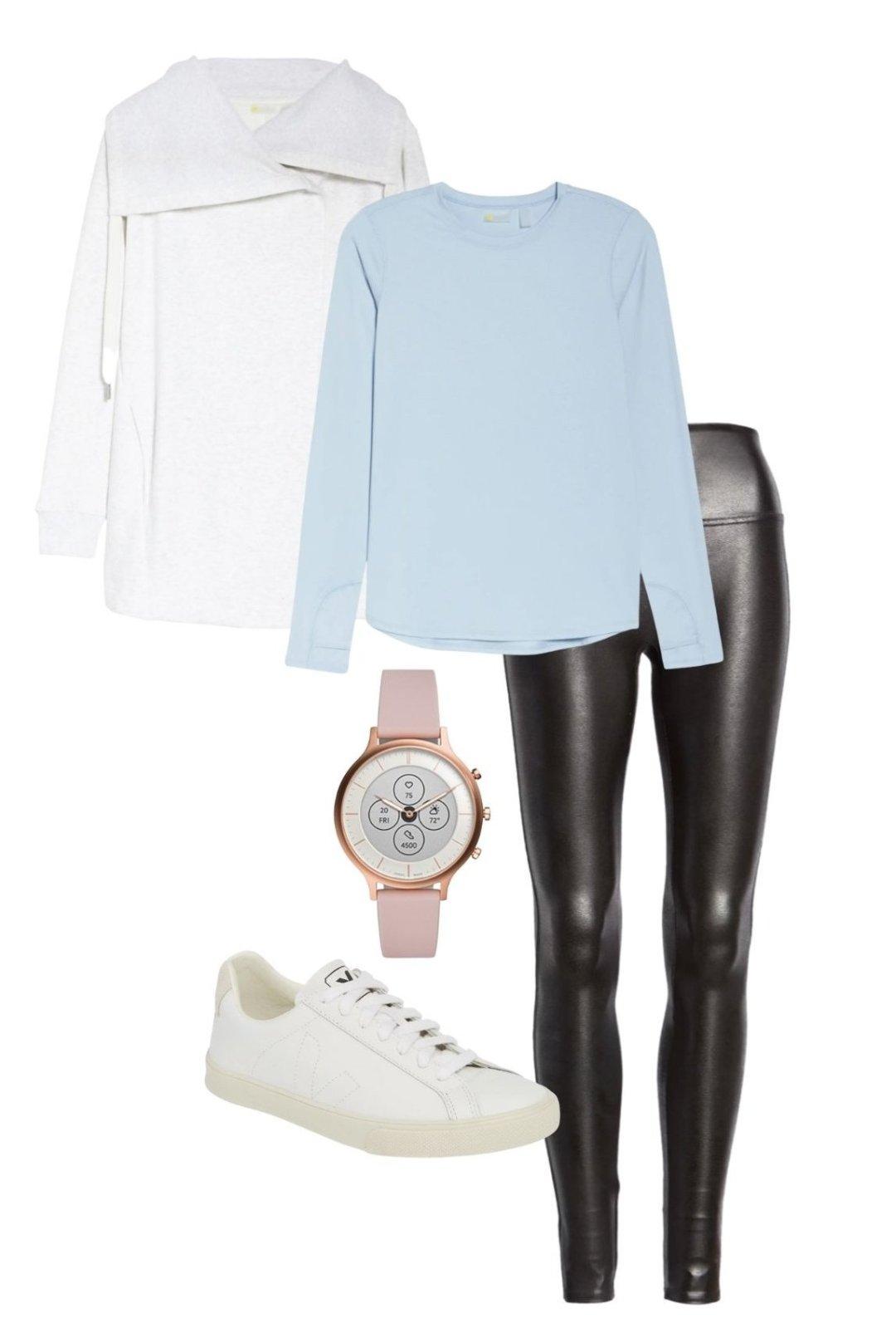 Jacket | Top | Leggings | Watch | Shoes