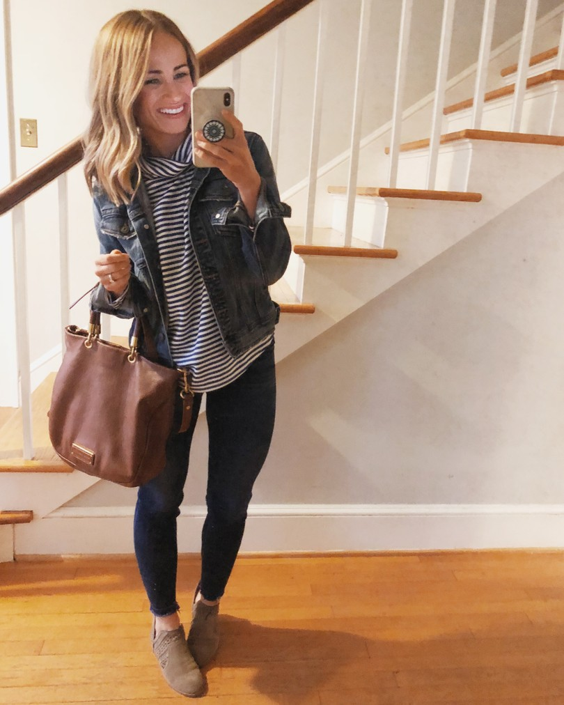 leather jacket fall outfit idea