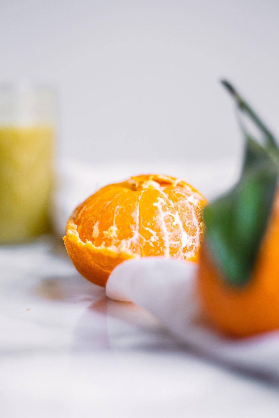 Orange Kale salad