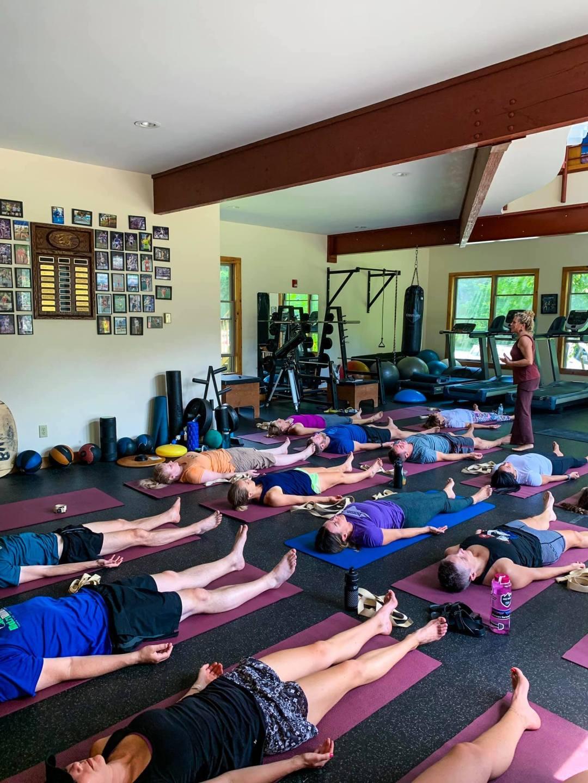 yoga at an adult running retreat
