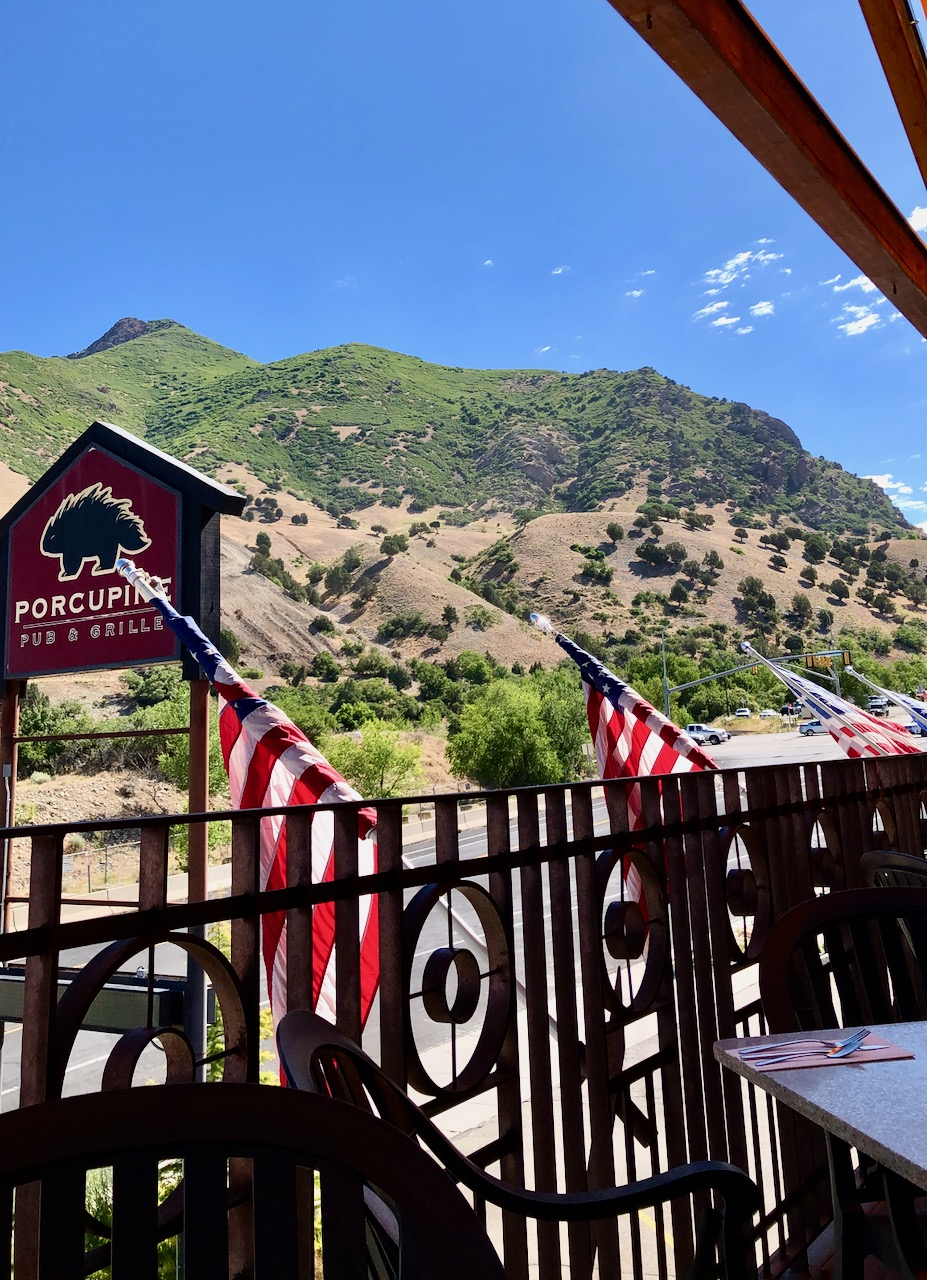 porcupine pub and grill patio view