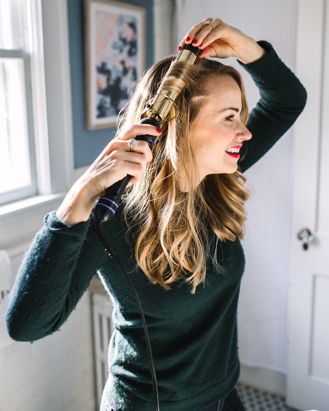 curl your hair in 10 minutes