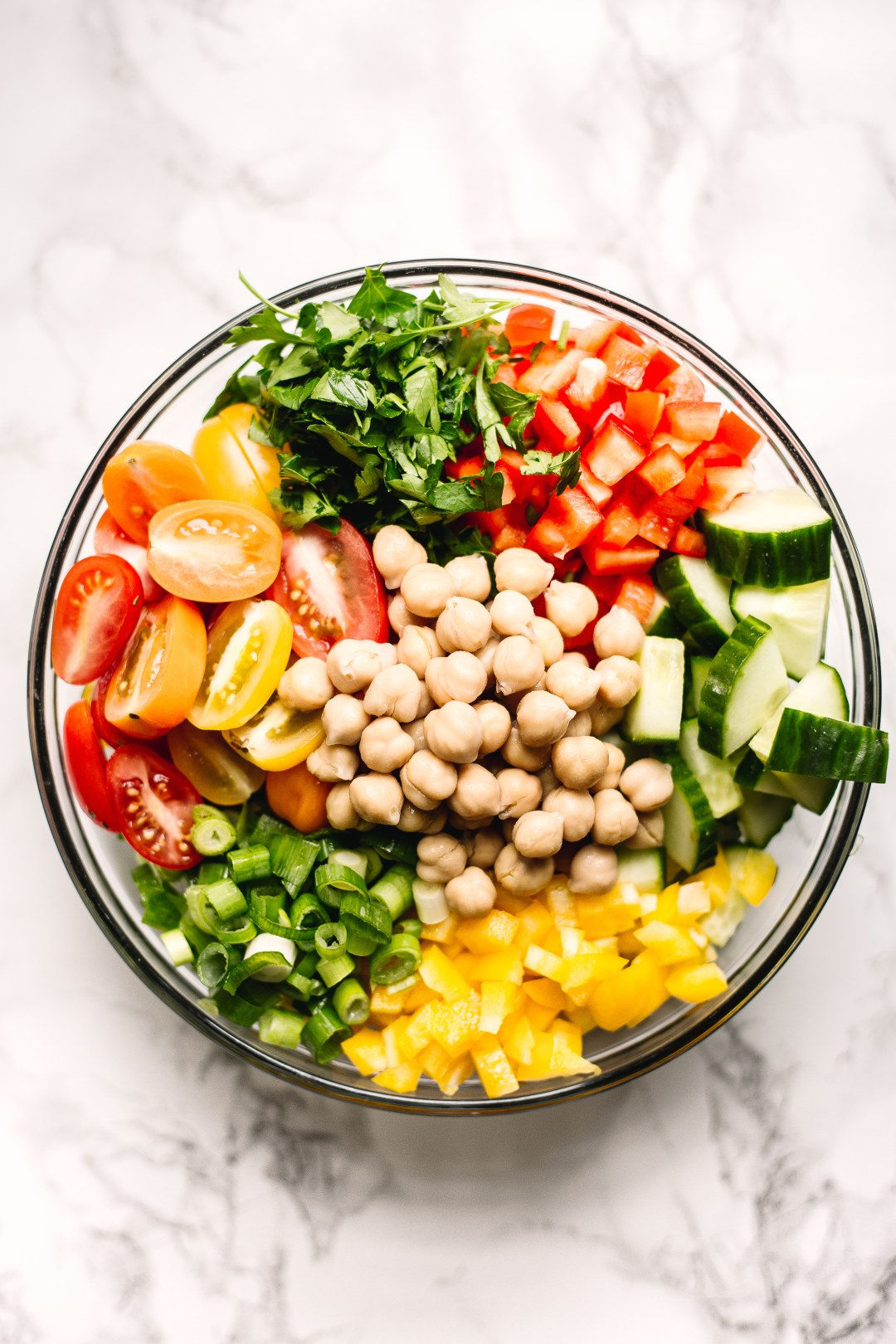 How to Boost Your Immune System Against the Flu | Rainbow chickpea salad
