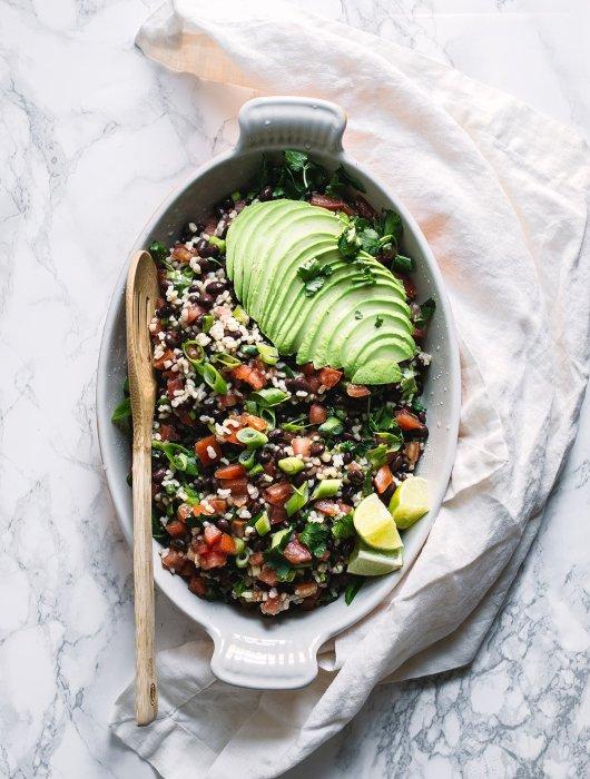 black bean and cilantro