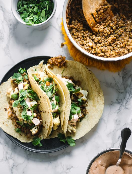 Lentil and Cauliflower Tacos