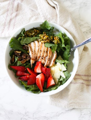 Kale Salad with Strawberries