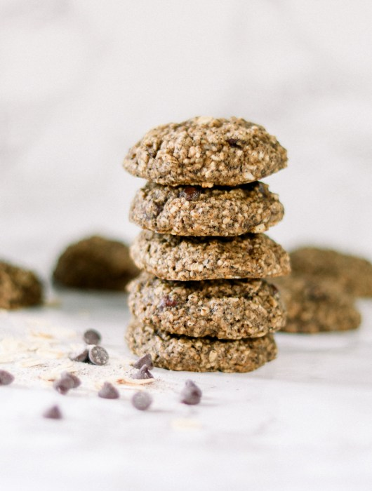 Gluten-Free Vegan Buckwheat Chocolate Chip Oatmeal Cookies