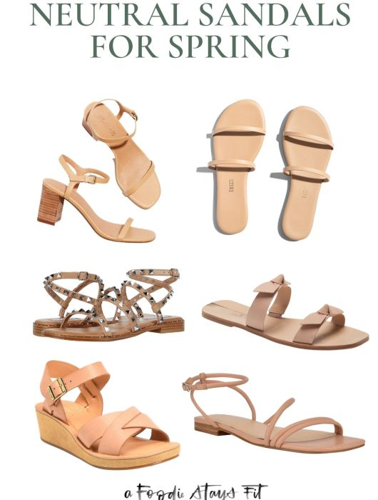 Neutral Sandals for Spring